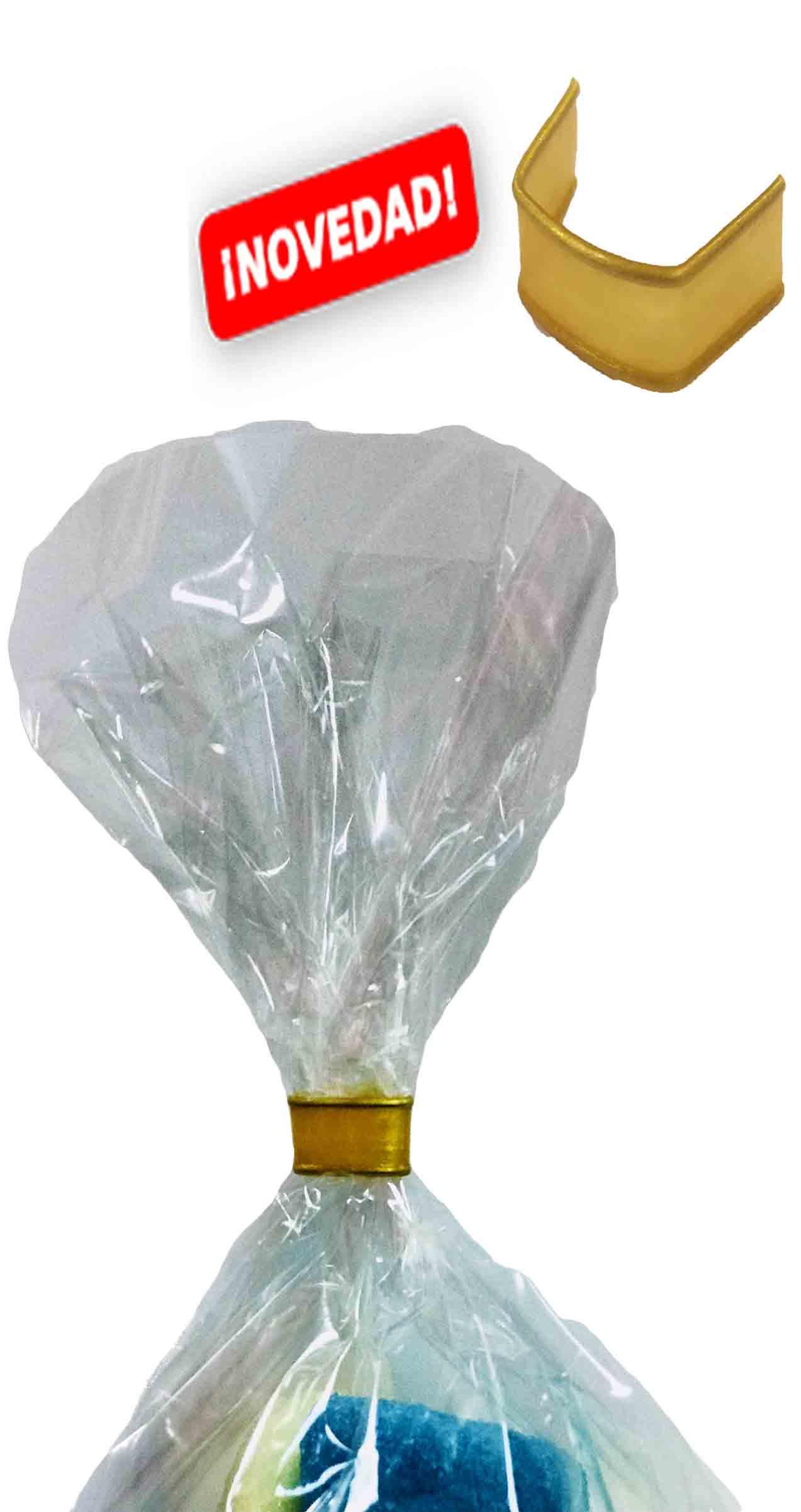 50378 U-Clip Plástico 40mm Oro 100 Ud. Image